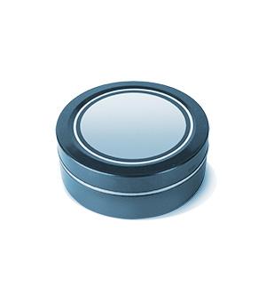 Metal tin round